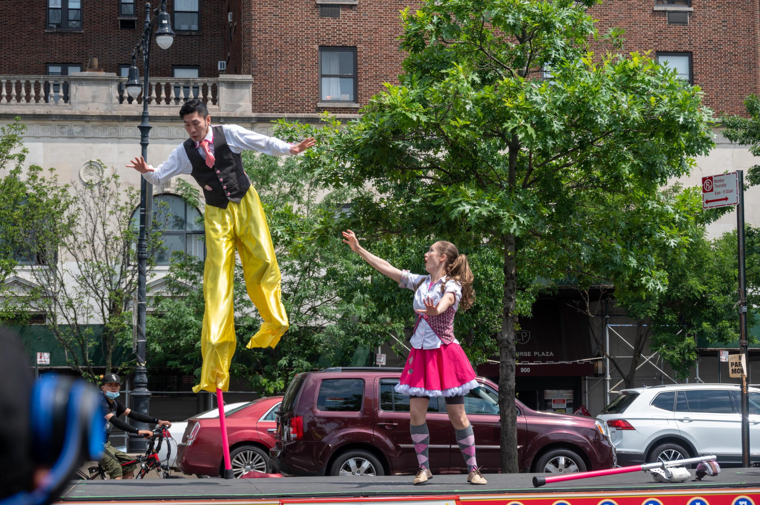 "Bindlestiff Family Cirkus ""Flatbed Follies"" in the Bronx, June 21, 2021. Photo © John Huntington"